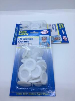 Baby Proofing Outlet Covers 1 Lot 2 Packs  (36) pieces