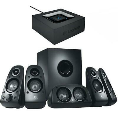 Logitech Z506 Surround Sound Speakers with Logitech Bluetooth Audio Adapter