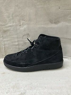 e4854f07018d Nike Air Jordan 2 Retro Decon 897521-010 Triple Black New Mens Suede Msrp   160