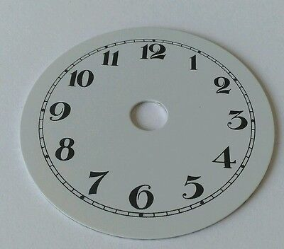 Enamel Clock Small Dial 71mm Arabic numerals
