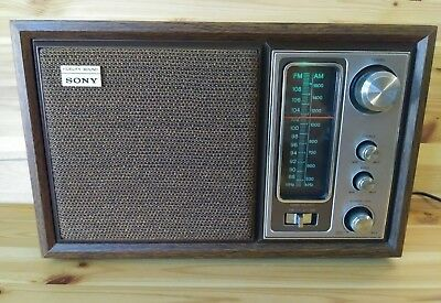 Vintage Sony ICF-9650W FM/AM Table Radio Lights up, works! Free shipping clean