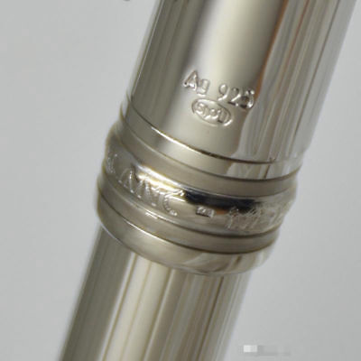 High Quality Luxury MB 163 Silver Ag925 Ballpoint Pen Coated Classique