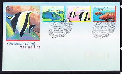 Christmas Island 1997 Marine Life First Day Cover  APM30170