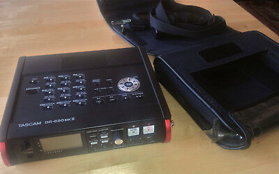Tascam DR-680 MKII 8-Spur Fieldrecorder Audio Recorder mit Case CS-DR680