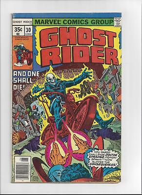 Ghost Rider Issue: #30 Cover Date: June, 1978 - Very Good/ Fine