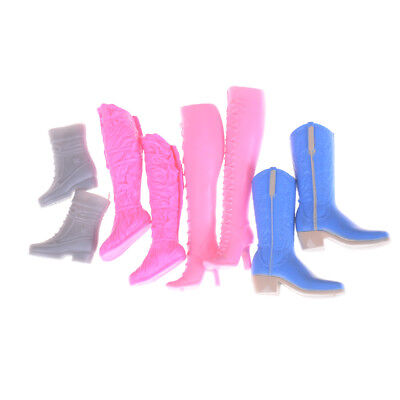 4Pairs Mixed Different High Heel Shoes Boots for Barbie Doll Dresses ClothesM7