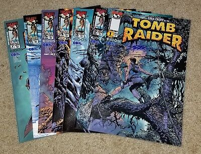 Tomb Raider #1, 2, 3, 4, 5, 6, 7 | Signed by Andy Park & Jon Sibal | Image |