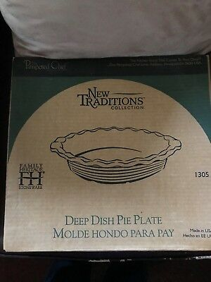P&ered Chef New Traditions collection Deep dish Pie Plate made in USA NIB & VINTAGE~PAMPERED CHEF~DEEP Dish Baker~Made In USA~1317 - $19.99 ...