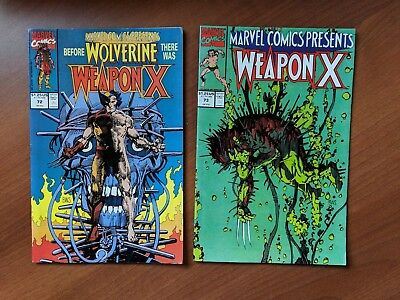 Marvel Comics Presents #72 & 73 Nm- 1St Wolverine As Weapon X Bws 1991