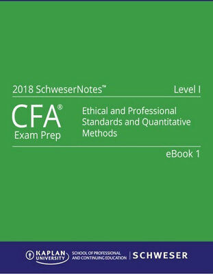 2018 CFA Level1 Kaplan Schweser Notes:Books 1-5, Exam Quick Sheet