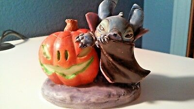 DISNEY HARMONY KINGDOM Vampire Stitch LTD ED 500  Lilo & Stitch Halloween COA