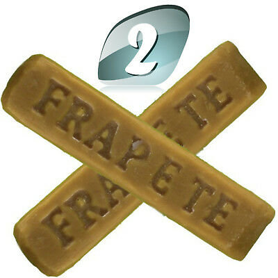 2 FraPete Gloss Mate Carnauba Wax Sticks Wood turning Wax High Gloss 90 Grams