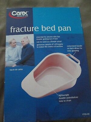 CAREX Fracture Bed Pan P 705-00 New In Box
