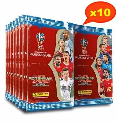 Panini 2018 FIFA World Cup Trading Cards ADRENALYN XL Sealed Packs x10, Soccer