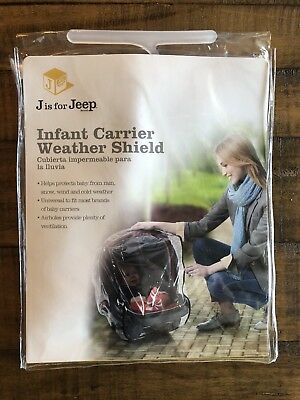 J is for Jeep Infant Car Seat Cover, Rain, Wind Waterproof Vinyl Weather Shield