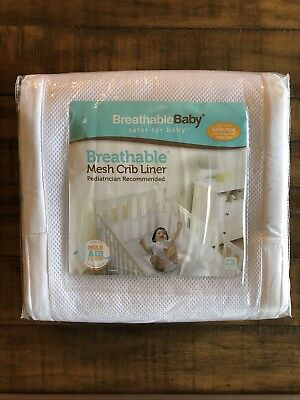 Breathable Baby Breathable White Mesh Baby Crib Liner