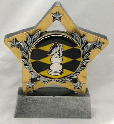 Chess Star Trophy 130mm  Engraved FREE