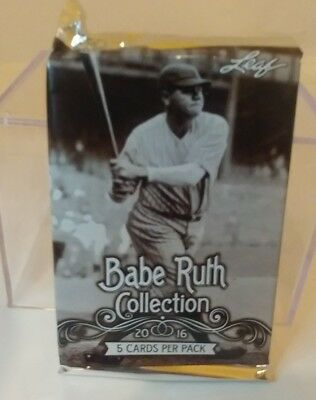2016 The Babe Ruth Collection Baseball Trading Cards - Sealed Pack