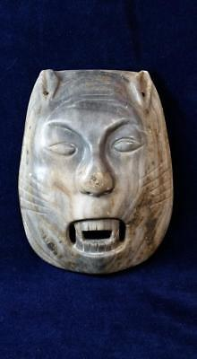 Vampire Cat - Old Heavy Stone Mask - Hand Carved - Unknown