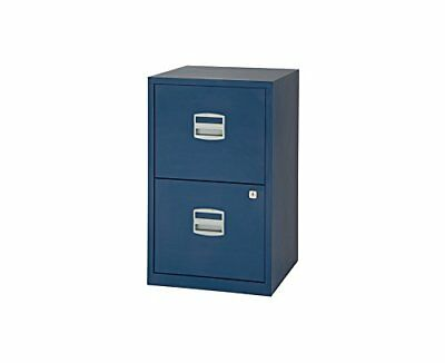 Bisley Metal Filing cabinet A4 2 Drawer (Oxford Blue)