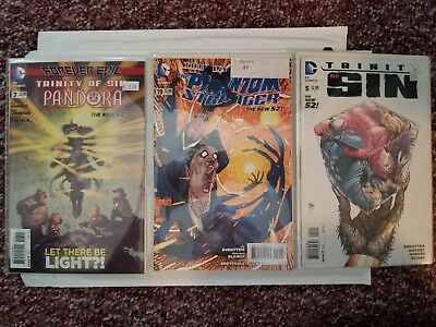Lot of 18 DC Comics, Justice League Dark, Constantine, Trinity of Sin