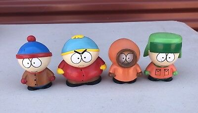 Lot Of 4 1998 Comedy Central South Park Hard Plastic Figures Fun 4 All Corp