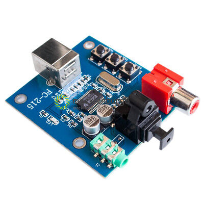PCM2704 USB DAC USB to S/PDIF Sound Card Decoder Board 3.5mm Analog Output New