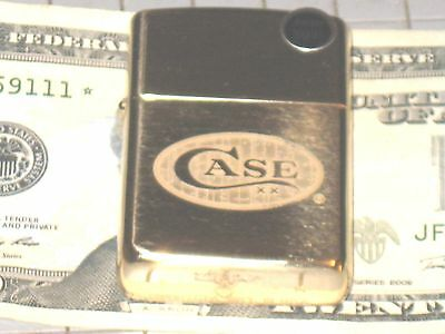 Case xx Logo Solid Brass Heavy Walled Armor USA ZIPPO Windproof Lighter Knife DL