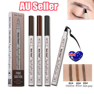 AU Hot Eyebrow Tattoo Pen Waterproof Fork Tip Patented Microblading Ink Sketch B