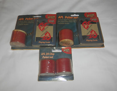 CLEARANCE Official AFL Melbourne Demons Poker Set with 2 Packs Cards - New Pack