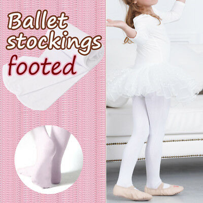 Children/girls ballet stockings/dance footed tights/pantyhose, pink,3 sizes new