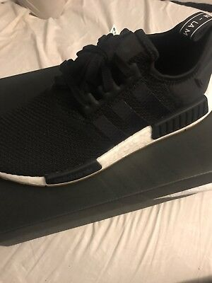Adidas Originals Nmd R1 Boost Black White Gum Mens Lifestyle