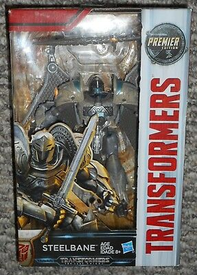 Transformers STEELBANE The Last Knight Movie Premier Edition Autobot Warrior