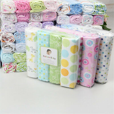 pcs/Pack 100% Cotton Flannel Baby Swaddle Blanket Newborn Soft Throw Bed sheet