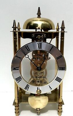 Brass Hermle Skeleton Clock