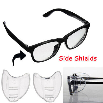 2PCS Universal Flexible Side Shields Safety TPU Glasses Goggles Eye Protection
