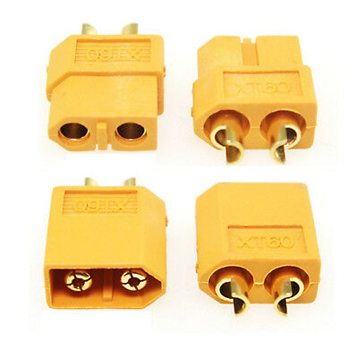 2x  New Arrival XT60 Bullet Connectors Plugs Male&Female For RC Lipo Battery KL1
