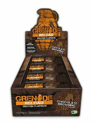 Grenade - Reload Flapjack Chocolate Browning 70g (Pack of 12)