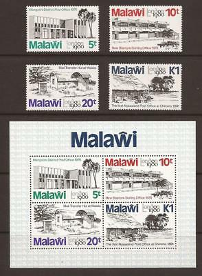 MALAWI 1980 SG620/623 + MS624 London 1980 Int. Stamp Exhibition Set MNH (JB1794)