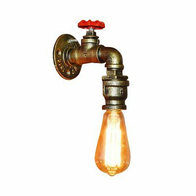 Retro Metal Loft Pipe Wall Light Lamp Wall Sconce Shop Bar Home Pendant Lighting