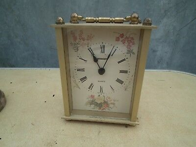 Vintage Glass fronted ''Staiger'' Carriage/Mantel Clock/Time Piece.