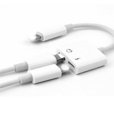 on sale a1b25 0cc03 2IN1 DUAL LIGHTNING Adapter Charging Splitter Audio Cable for iPhone  7/8/X/Plus
