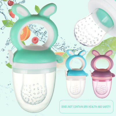 Baby Feeding Pacifier Fresh Food Fruits Feeder Dummy Soother Weaning Nipple