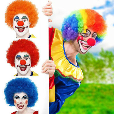 Curly Afro Wig Fancy Dress Party Clown Hair Disco Men Lady 70s World Cup Costume