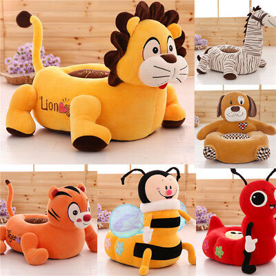 Kids Children Soft Plush Chair Toddlers Armchair Seat Nursery Baby Sofa Non-slip