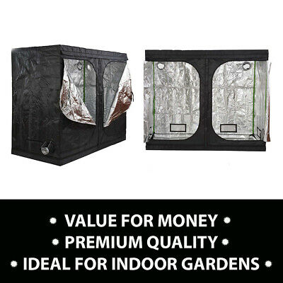 Hydroponics Premium Grow Tent Silver Mylar Bud Green Room + Spill Tray Option