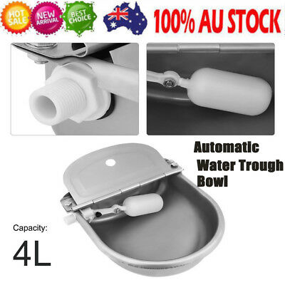 4L Automatic Float Valve Water Trough Bowl Stock Waterer Drinking Sheep Feeder