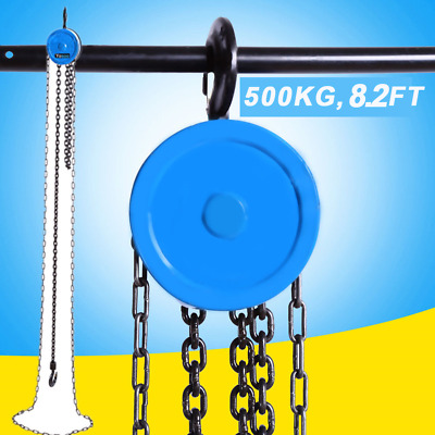 2.5m / 8.2ft Pulley Chain Block Chain Hoist Cable Hand Control Pulley Crane