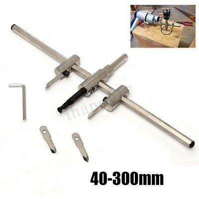 Adjustable Metal Wood Circle Hole Saw Drill Bit Cutter Kit Accessory 40-300mm