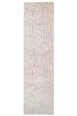 Hallway Runner Rug Pink Hall Modern Mat Carpet 3, 4 Metres Long FREE DELIVERY